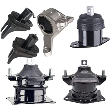 A4599 A65022 A4566 Engine Motor Mounts Fits 2007 2008 Acura TL 3.2L 3.5L AUTO Engine Motor /& Trans Mount Set 6pcs : A4526HY A65025 A4591