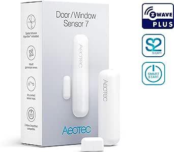Aeotec Door/Window Sensor 7, Z-Wave Plus S2 Smart Start, 3-in-1 with Dry Contact & Tilt sensors, 3 Year Battery Life, White