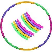 Hoelahoepel voor kinderen, hoge kwaliteit, 8-delig afneembaar design, gekleurde diameter 65 cm, gemakkelijk te dragen…