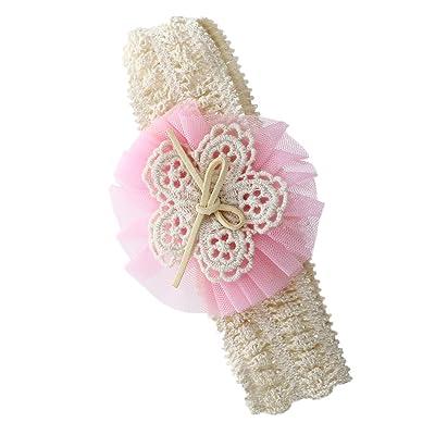 TOOGOO(R) bande de cheveux du motif floral rose pour bebe