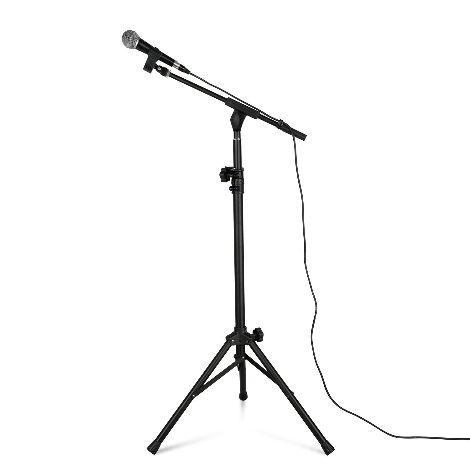 Tenuto Tech Speaker Stand Kit with Microphone, Microphone Holder 10ft XLR Cable (Mic stand set)