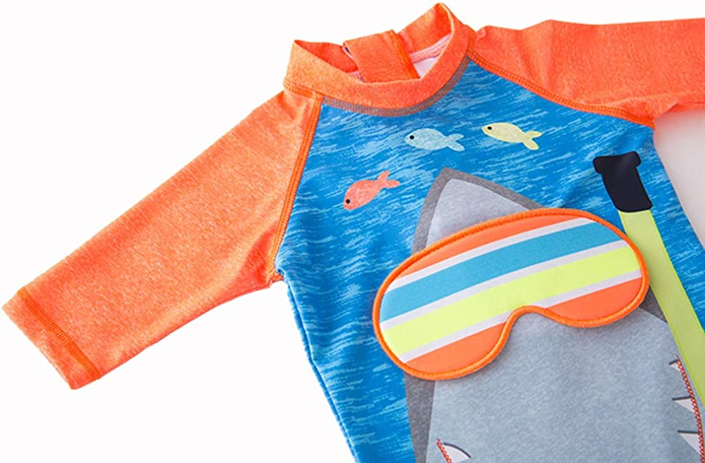 BAOPTEIL Baby//Toddler Boys Swimsuit One Piece Kids Zipper Bathing Suit Swimwear with Sun Hat Rash Guard Surfing Suit UPF 50+