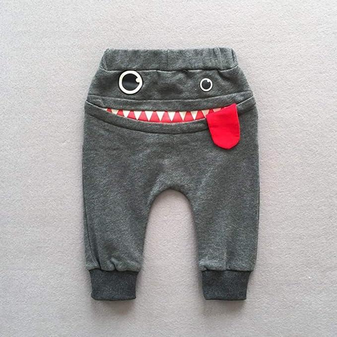 feiXIANG Ropa para niños bebé niño niña Caricatura tiburón Lengua Pantalones harén niños Ropa Casual nuevos Pantalones de chándal de Moda: Amazon.es: ...