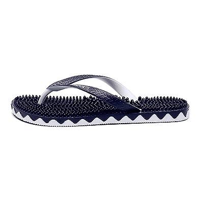 e1c19a6e321 GEXKO Men s Flip Flop Massage Slippers Thong Sandals(10 D(M) US