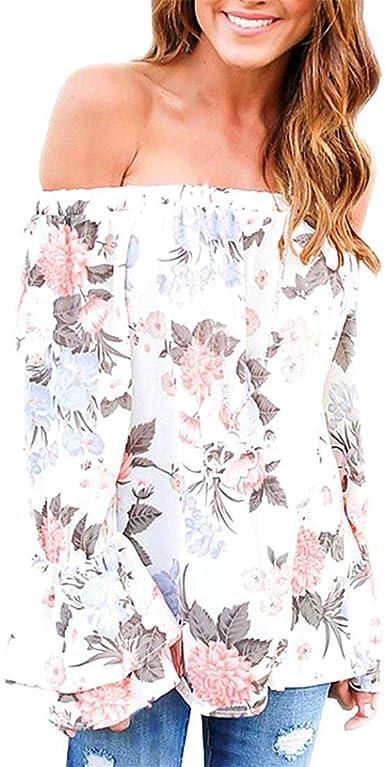 Camisa Elegantes Moda Blusa Mujer Primavera Verano Estampadas ...