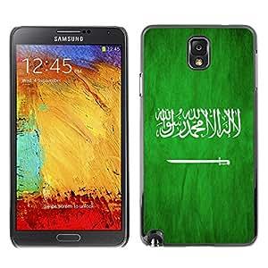 Shell-Star ( National Flag Series-Saudi Arabia ) Snap On Hard Protective Case For Samsung Galaxy Note 3 III / N9000 / N9005