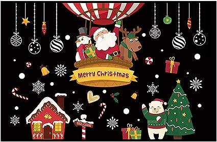 Noël Autocollant Mural vacances décoration blanc fenêtre d/'affichage adhésif