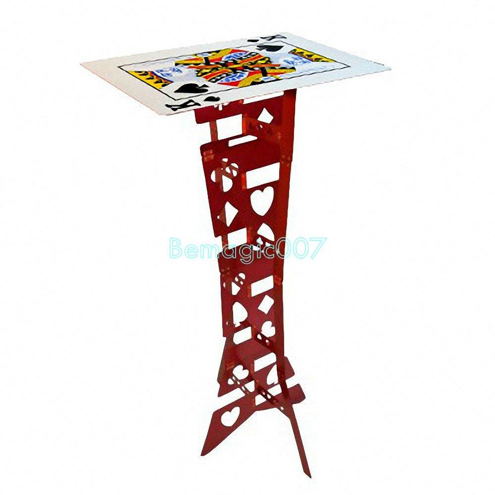 『1年保証』 フォールディングテーブル 赤 カード表面 Aluminum folding カード表面 table magic (Red, poker table)-- Aluminum table)-- ステージマジック B06W534SPX, トップマート:431f8203 --- ciadaterra.com