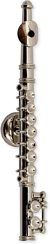 Silver Flute Miniature Replica Magnet, Size 3 inch