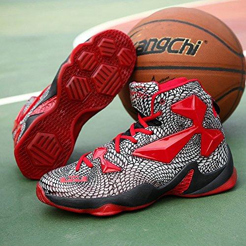 Nr. 66 Stadt Männer Leistung Dämpfung Laufschuhe Sneaker Basketball Schuhe rot