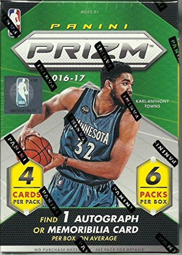 2016-2017-Panini-Prizm-NBA-Basketball-Series-Factory-Sealed-Blaster-Box-of-Packs-with-One-Premier-JERSEY-RELIC-or-Autographed-Card-per-box