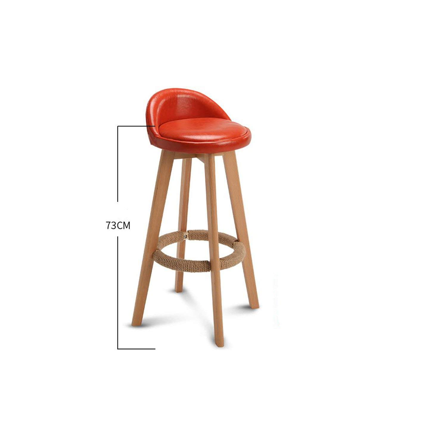 Style 6 tthappy76 Bar Stool Nordic Modern Minimalist Household Solid Wood High Stool Bar Stool Bar Chair Leisure Back Chair Stool,Style 8