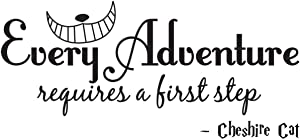 Empresal Every Adventure Requires a First Step Cheshire Cat Wall Quote Wall Decals Wall Decal Wall Sticker