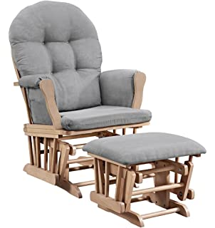 Angel Line 61311 67 Windsor Glider And Ottoman, Natural And Gray
