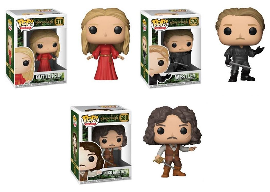 FunkoPOP The Princess Bride  Buttercup + Westley + Inigo Montoya – Set NEW