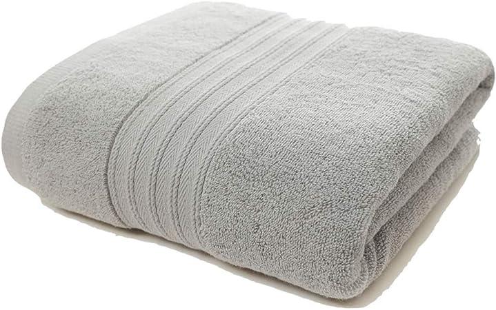 CCMOO Algodón Egipcio Suave Gris Grandes Toallas de baño Terry Cara Mano Toalla de baño de Playa para Adultos, Gris, 70 x 140 cm: Amazon.es: Hogar