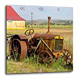 3dRose dpp_93520_1 Oregon, Shaniko. Rusty Vintage Tractor in Field-US38 BJA0269-Jaynes Gallery-Wall Clock, 10 by 10-Inch Review