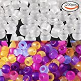 JPSOR 1200 Pcs Uv Beads Scientific Multi Color Uv Beads, Changing Reactive Plastic Beads, Pack of 1200
