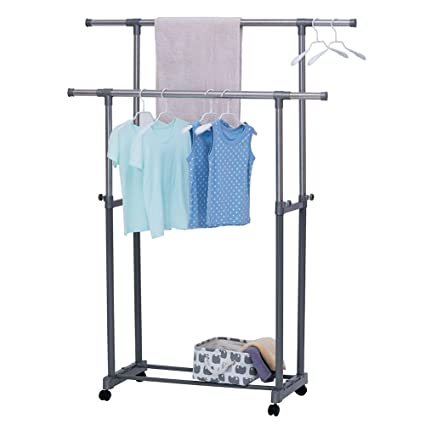 Amazoncom Yubelles Clothes Drying Rack Height Ajustable Flexible