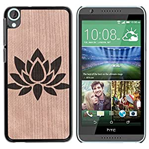 - / Lotus Flower Floral Zen Yoga - - Funda Delgada Cubierta Case Cover de Madera / FOR HTC Desire 820 D820 d820t / Jordan Colourful Shop/