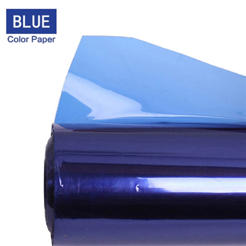 Meking Professional 16x20 Inch Gels Color Filter Paper Correction Gel Lighting Filter for Photo Studio Light Red Head Light Strobe Flashlight - Light Blue