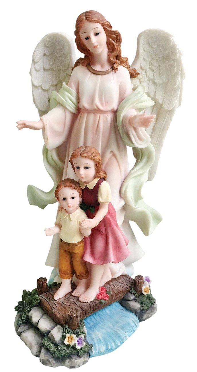Love s Gift 5 , 8 12 Guardian Angel Statue Archangel Estatua 12 Inch