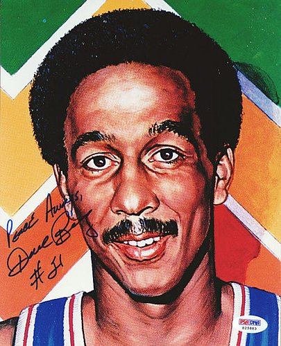 (Dave Bing Signed 8x10 Photograph Pistons - Certified Genuine Autograph By PSA/DNA - Autographed Photo )