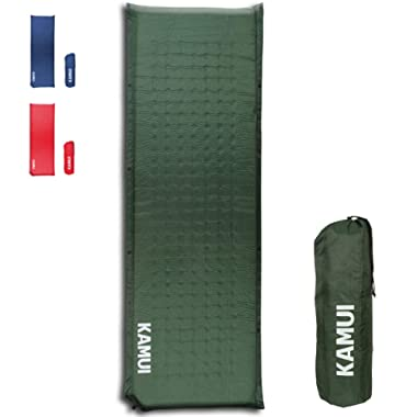 KAMUI Self Inflating Sleeping Pad - 2 Inch Thick Camping Pad Connectable with Multiple Camping Mats Designed for Tent, Couple, and Family Camping