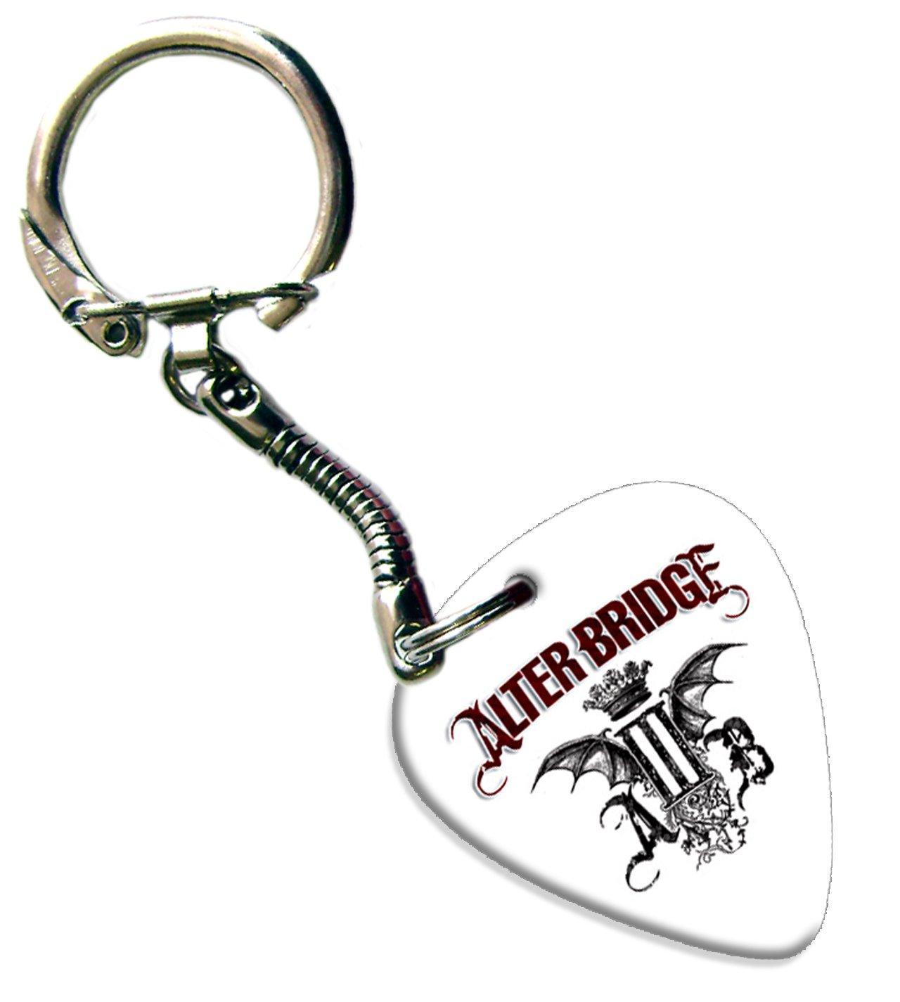 Alter Bridge Guitar Pick Porte-cl/és Keychain Band m/édiator