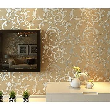 Halloween Wallpaper Home Decor Wall Paper Roll Grey Cream Colored