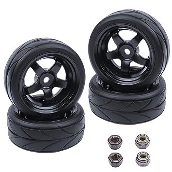 Amazon.com: hobbypark 1/10 en carretera neumáticos y ruedas ...