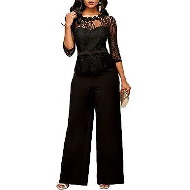 2ea5d9a375 Amazon.com  ylovego Women s Jumpsuit Women Bodysuit Jumpsuit Plus Size Vestidos  Jumpsuit  Clothing
