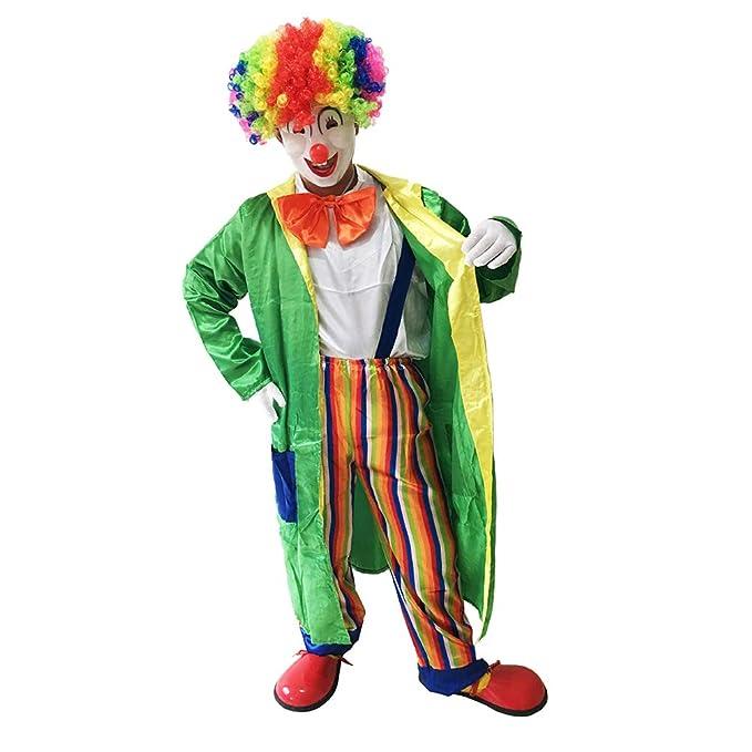 Haobing Disfraz de Payaso para Adultos Traje de Halloween ...