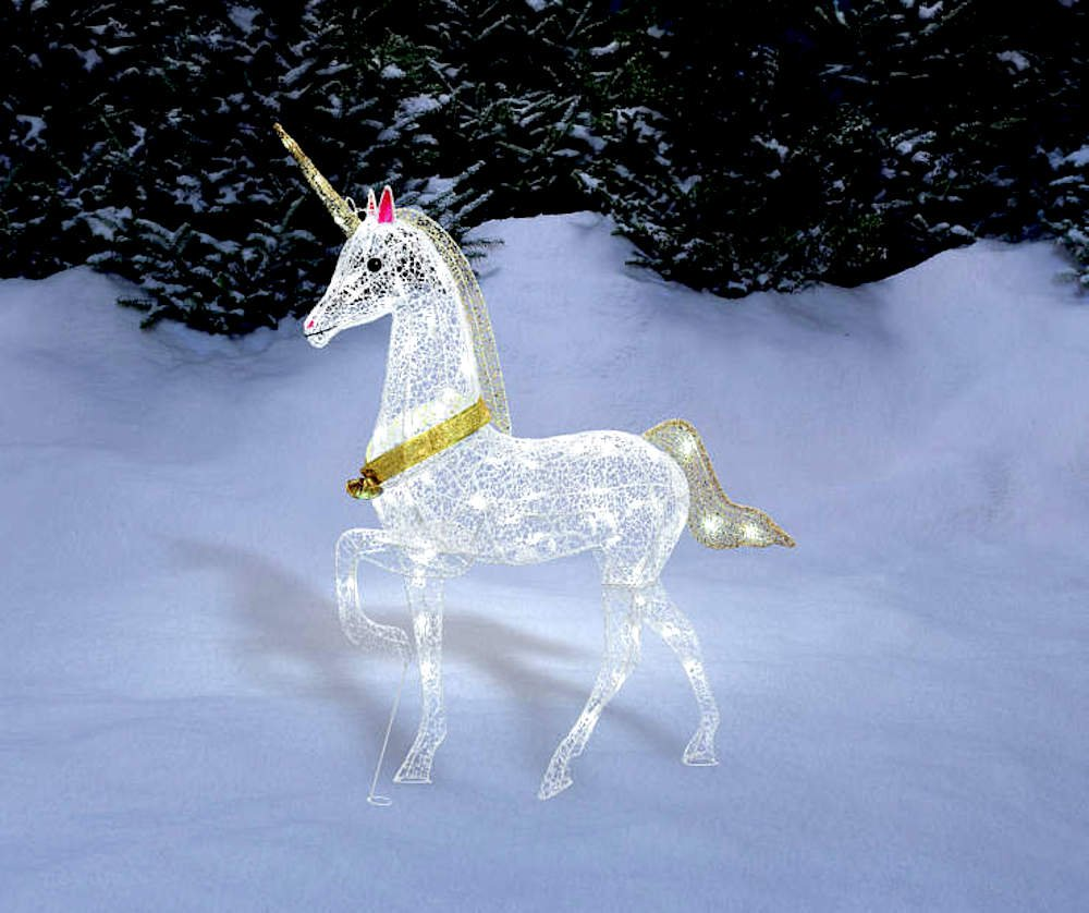 Magical Christmas LED LIGHTED UNICORN Indoor/Outdoor Yard Decoration Light Lawn Ornament Sculpture by Morning Star Market