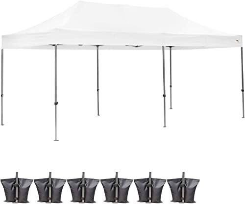 Outdoor Basic Heavy Duty 10×20 Ft Pop Up Canopy Wedding Party Tent Event Gazebos White