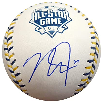 070af5ab44aa Image Unavailable. Image not available for. Color  Mike Trout Signed Ball -  Official 2016 All Star Game ...