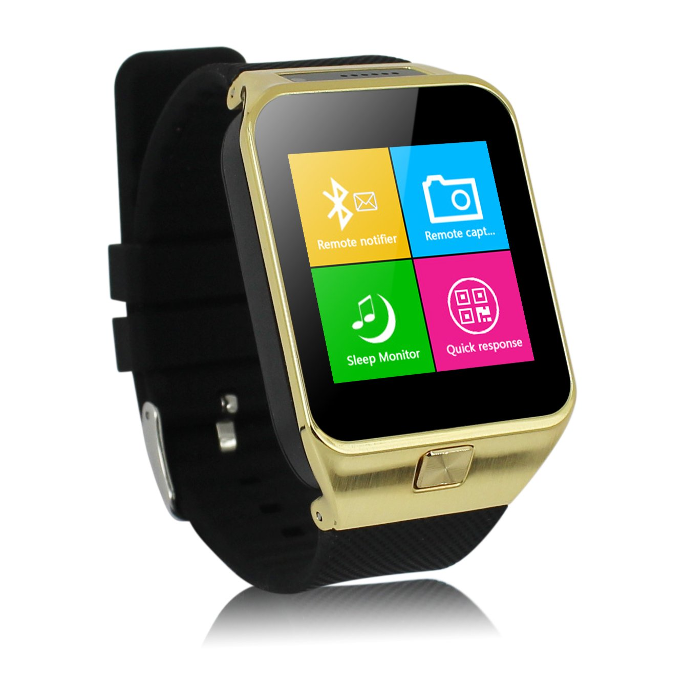 smartwatch watches bluetooth watch phone sim screen surface cell card silver