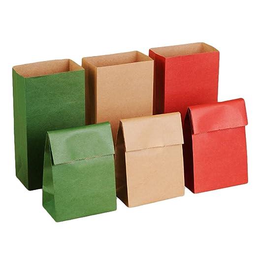 30 Piezas Vintage Color Sólido Bolsas de Papel de Regalo ...