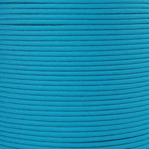 Paracord Planet 550 Cord Type III 7 Strand Paracord 1000 Foot Spool - Neon Turquoise