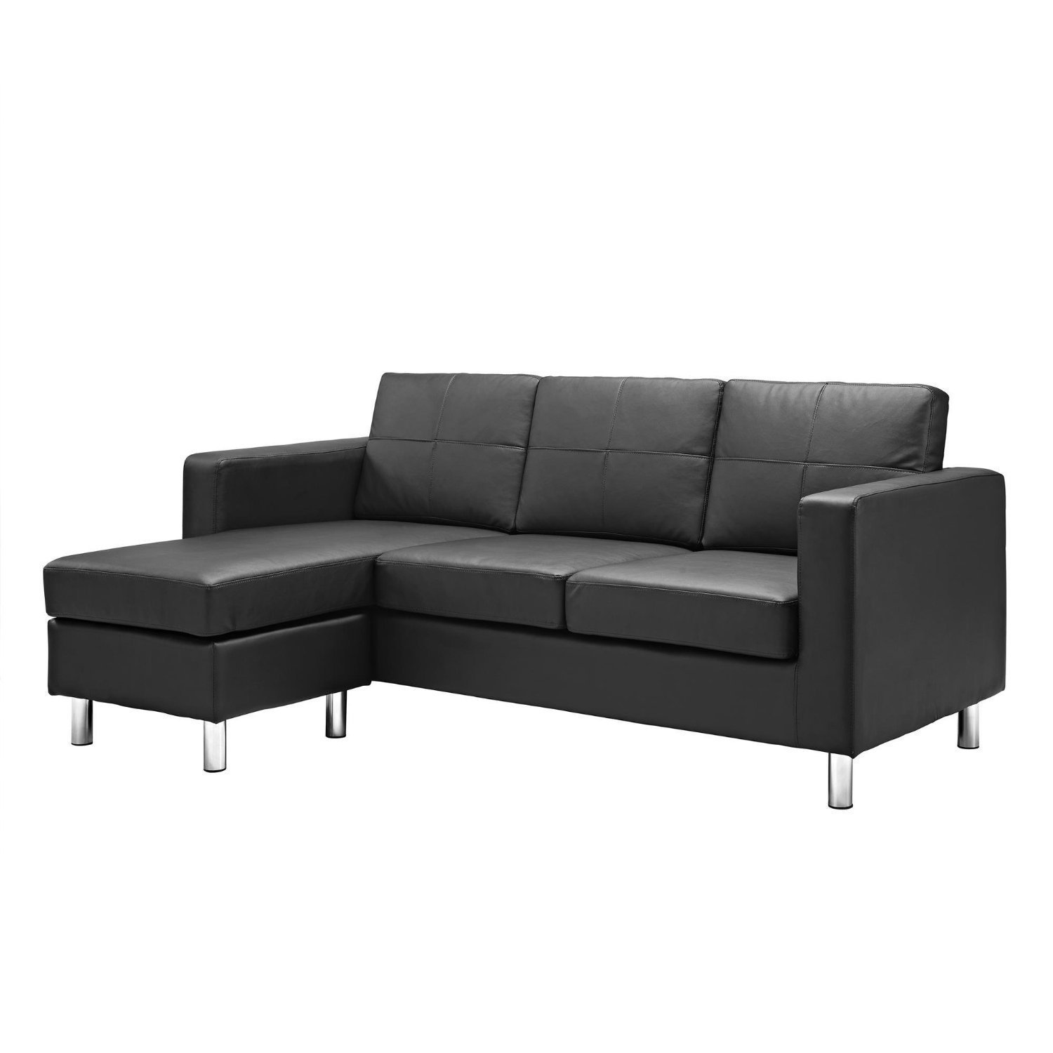 Amazon Modern Bonded Leather Sectional Sofa Small Space