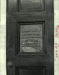 Historic Images - 1976 Press Photo The Home of Le Petit Theatre Plaque at Chartres and St. Peter