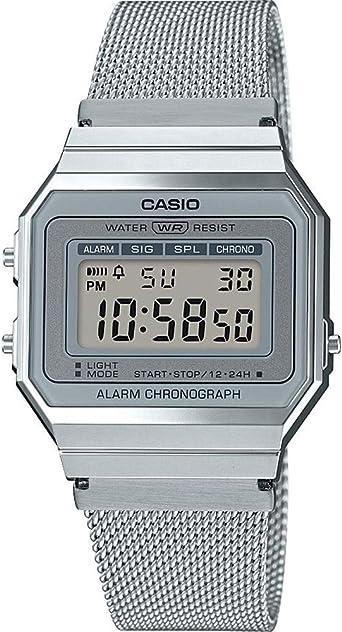Casio Reloj Mujer de Digital con Correa en Acero Inoxidable ...