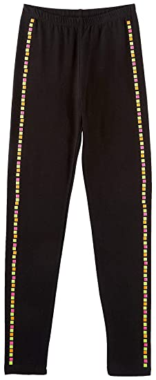 e7bd51ce946c5 Amazon.com: Poof Big Girls Neon Stud Leggings: Clothing