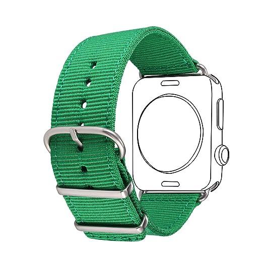 26 opinioni per Bandmax 42MM Green Nylon Fabrics Watchband for Apple Watch Fashion Design High