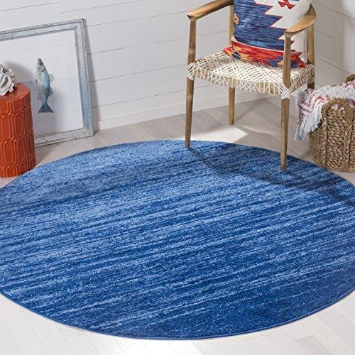 Safavieh Adirondack Collection ADR113F Light Blue and Dark Blue Modern Abstract Round Area Rug (6' Diameter)