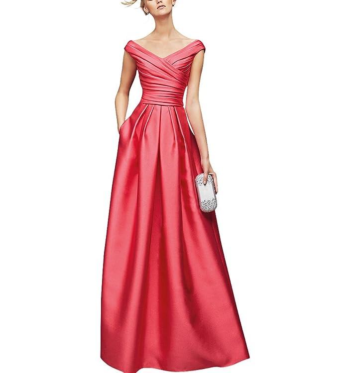 Dream Bride - Vestido - trapecio - para mujer - Korallen 48: Amazon.es: Ropa y accesorios
