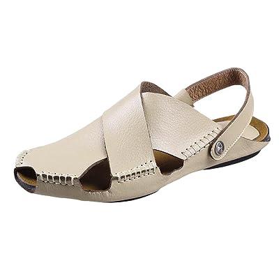 78ce0890f046 Baymate Hombres Sandalias con Punta Cerrada Cómodos Zapatos Al Aire Libre  Calzado de Playa