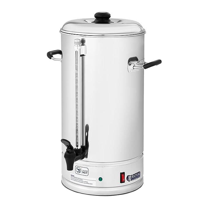 Royal Catering Cafetera de filtro industrial RCKM-WOF10 (1.500 W, 10 L, max. 85 °C, Preparación y mantenimiento en caliente, Con grifo para servir): ...