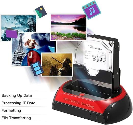 YMJJ Estación de Acoplamiento de Disco Duro, TCC-S867-UK USB 2.0 a ...