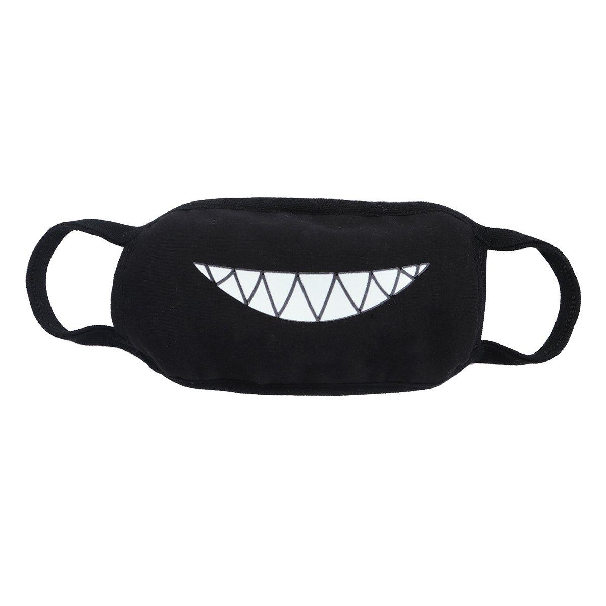 VORCOOL Máscara de Boca Luminosa de Halloween Dientes de algodón Mascarilla Luminosa para Hombres, Mujeres